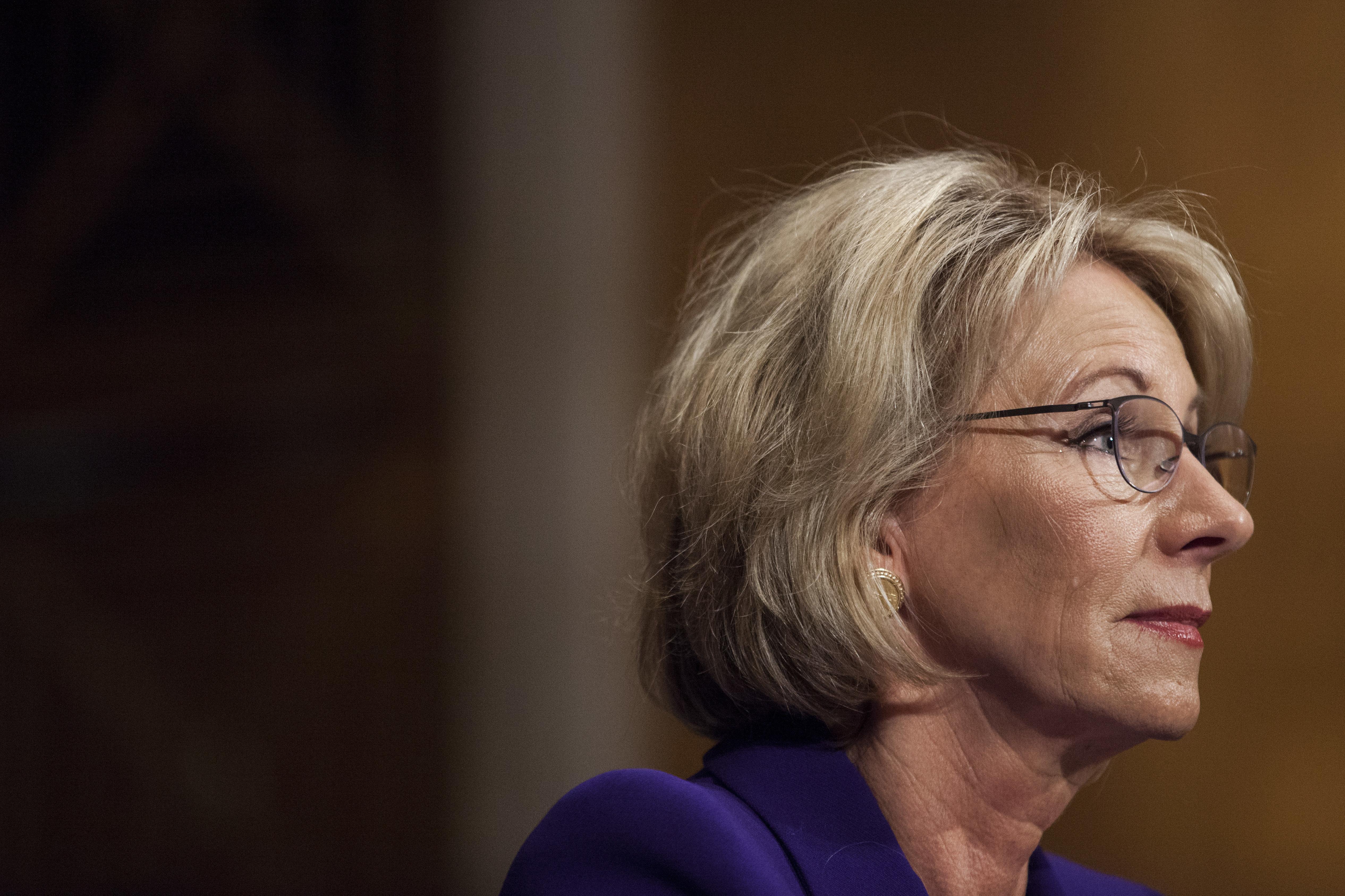 Amid Backlash, Betsy DeVos Made U.S. Education Secretary In Tie-Breaker