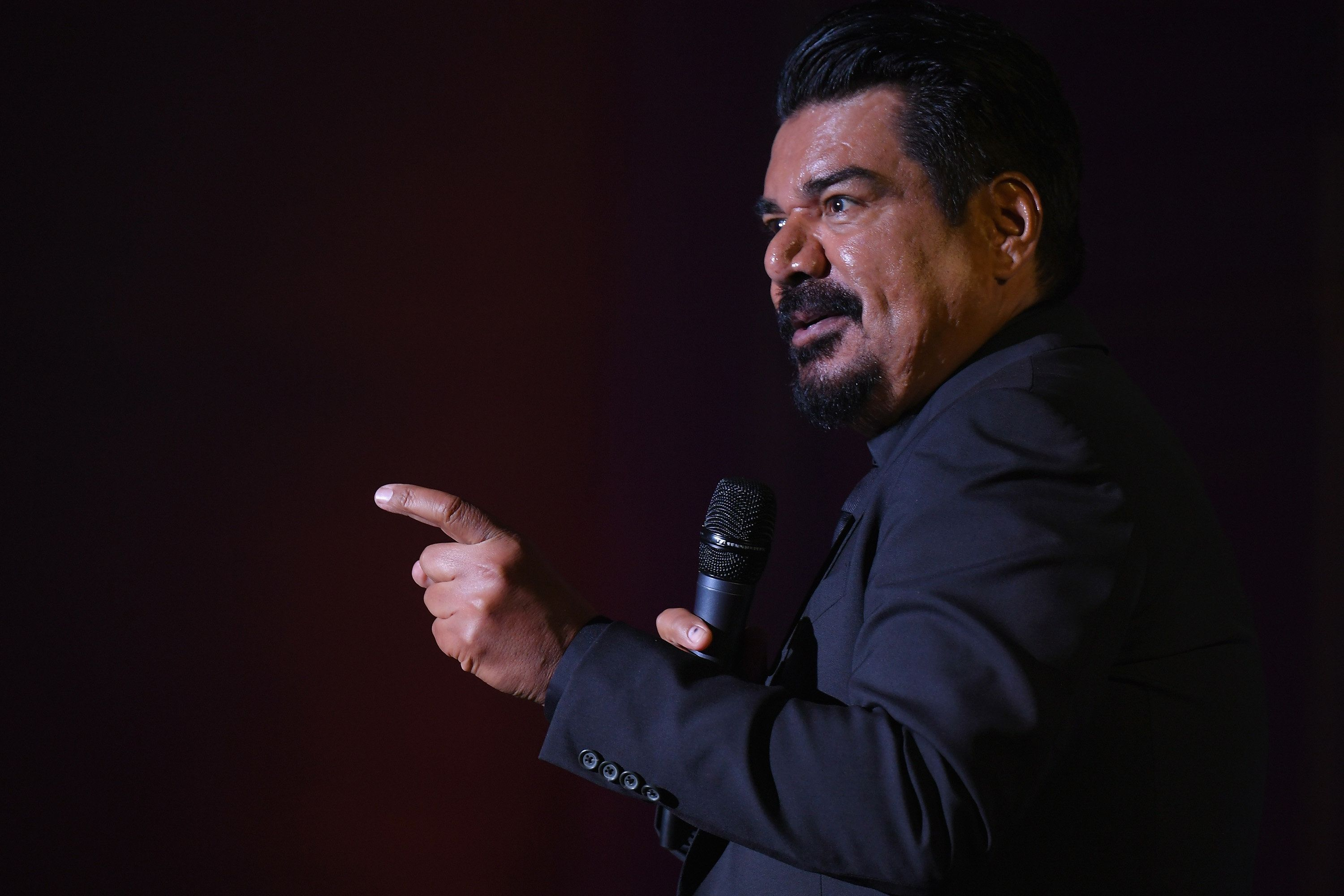 NEW YORK, NY - NOVEMBER 09:  Comedian George Lopez performs onstage during the Natural Resources Defense Council's 'NRDC's Night of Comedy' Benefit with Seth Meyers, John Oliver, George Lopez, Mike Birbiglia and Hasan Minhaj on November 9, 2016 in New York City.  (Photo by Mike Coppola/Getty Images for The Natural Resources Defense Council)