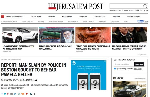 A Jerusalem Post article on the suspected motive of the