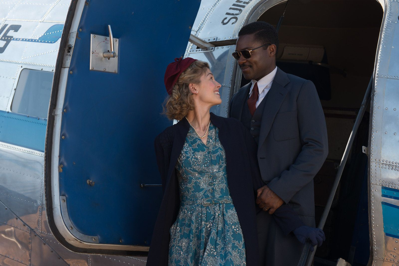 Rosamund Pike and David Oyelowo stage a meet-cute that butts up against the era's politics.