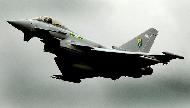 RAF jets escorted a Pakistan International Airlines flight into London Stansted on