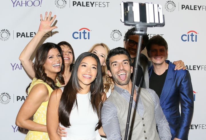 """Happier times for the cast of """"Jane The Virgin."""""""