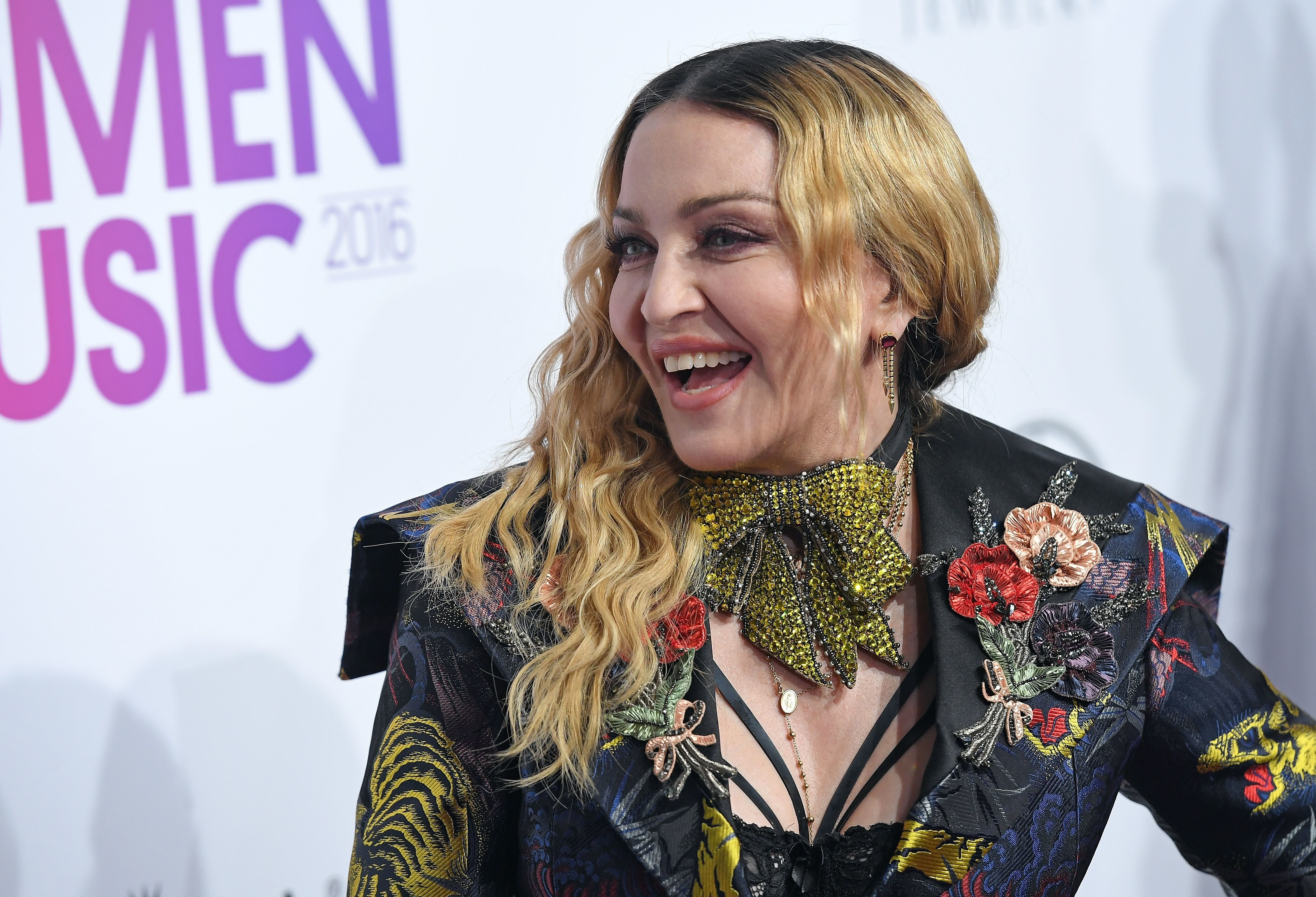 Madonna attends the Billboard Women in Music 2016 event on December 9, 2016 in New York City. / AFP / ANGELA WEISS        (Photo credit should read ANGELA WEISS/AFP/Getty Images)