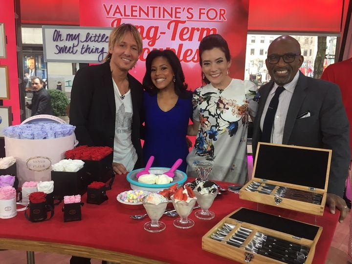 <p>From left to right: with guest co-host and country music super star Keith Urban, and <em>Today</em> co-hosts Sheinelle Jones and Al Roker.</p>