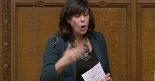 Claire Perry speaks in the