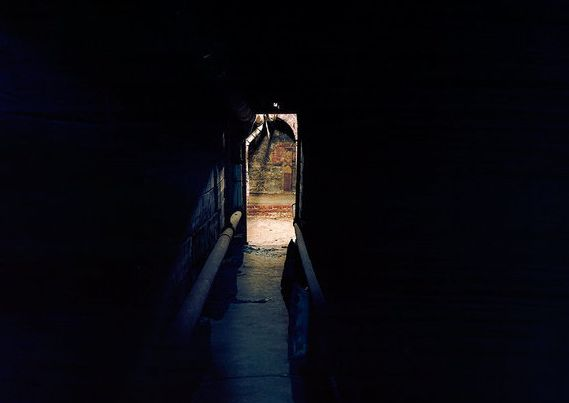 A tunnel used for escape by slaves.
