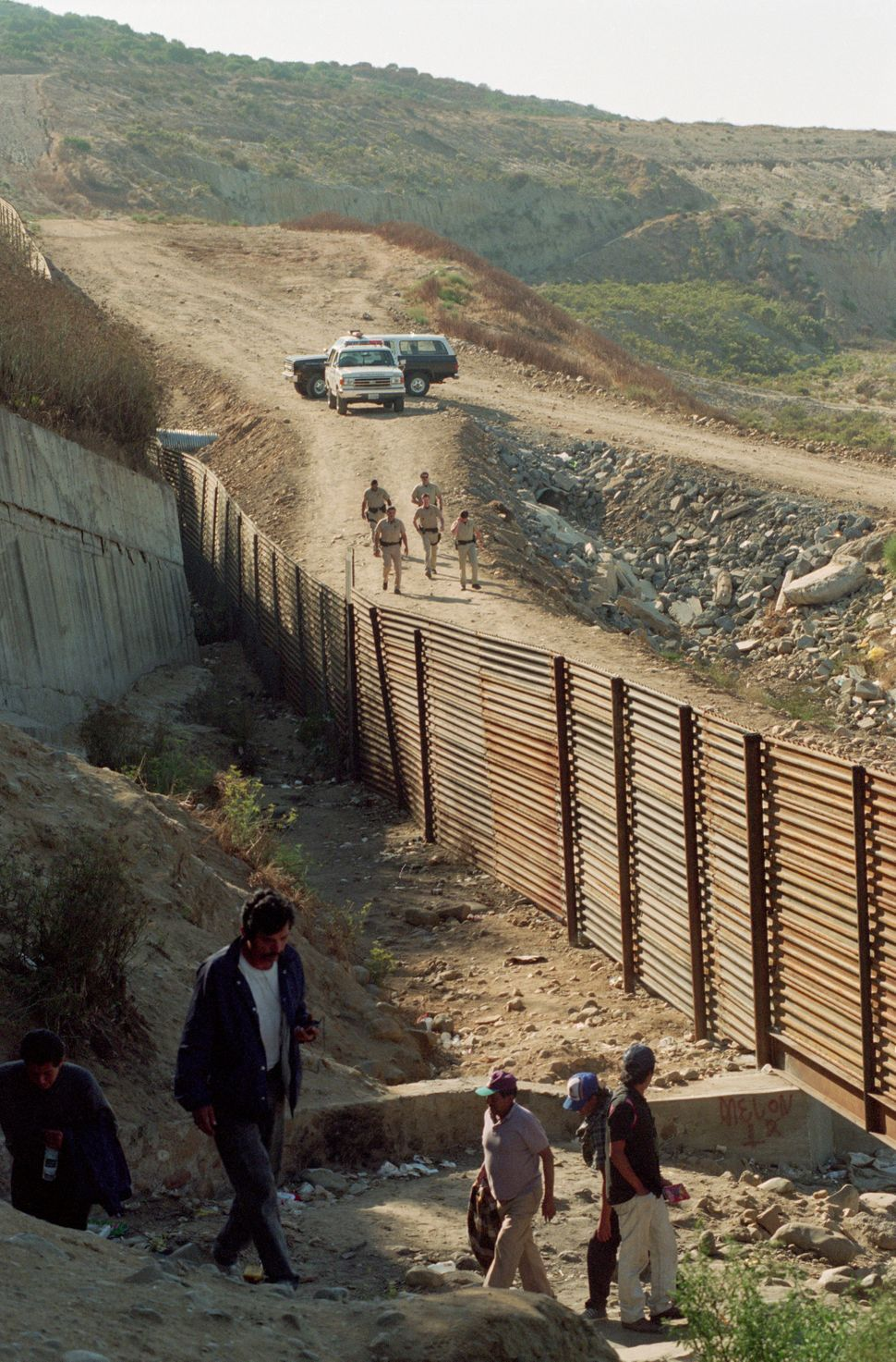 U.S. Customs agents patrolling the border.