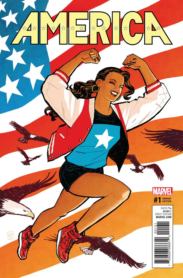 "A variant cover of ""America"" #1."