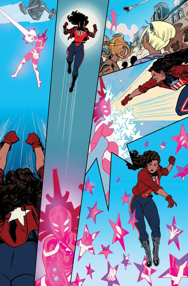 America Chavez doing her thing.
