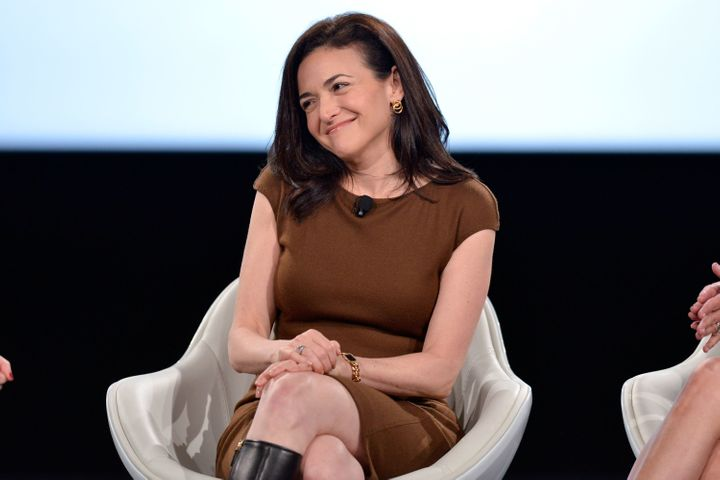 Sandberg speaking at the Makers conference on Tuesday.