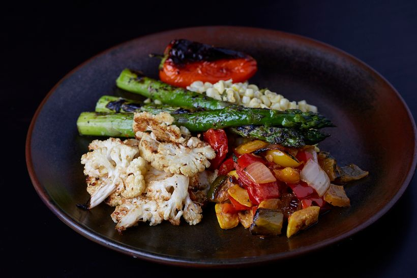 Grilled vegetables from Mariposa