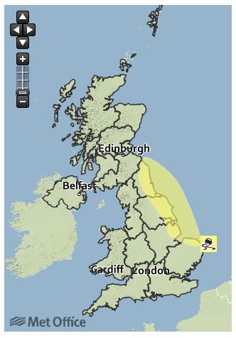 The Met Office has several yellow weather warnings in