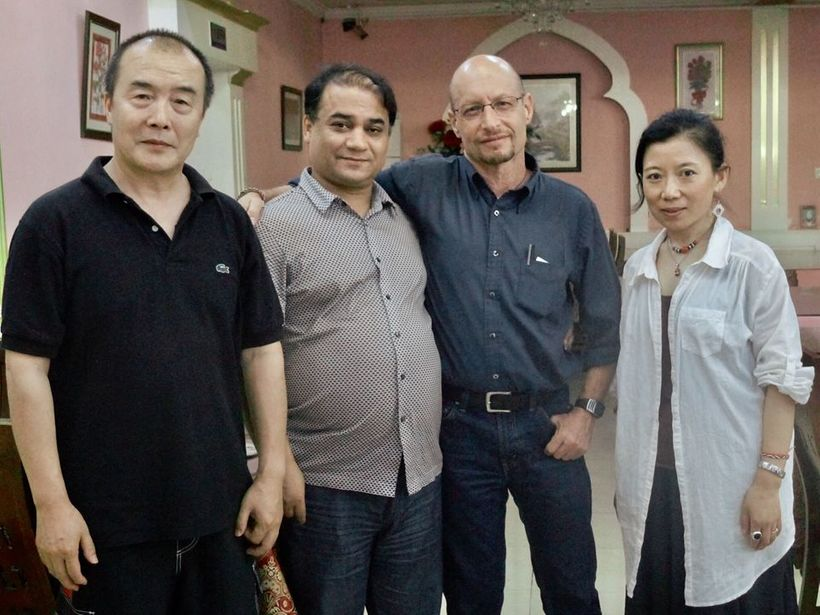 From left to right: Wang Lixiong, Ilham Tohti, Elliot Sperling, Tsering Woeser.