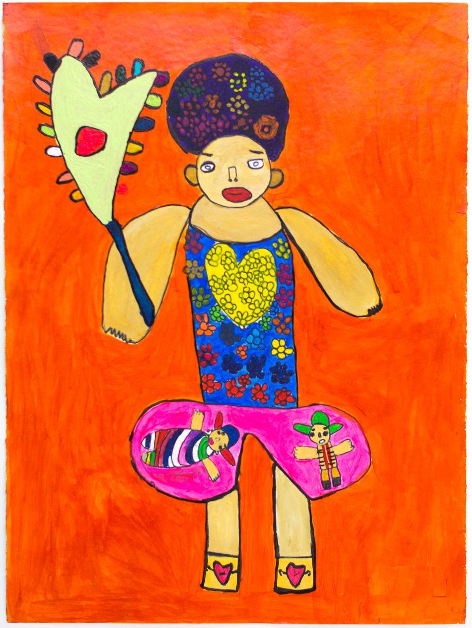 Lulu Sotelo, 2016. Acrylic on paper, 22x30.