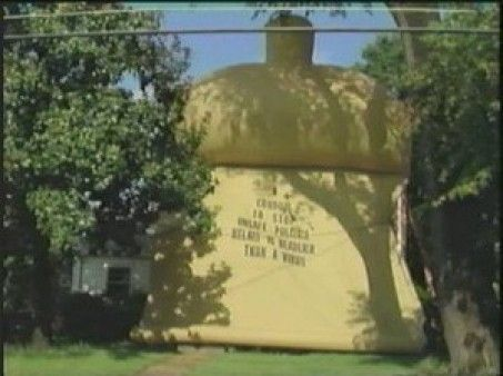 On September 5th, 1991, AIDS activists put a giant condom over Jesse Helms' house.