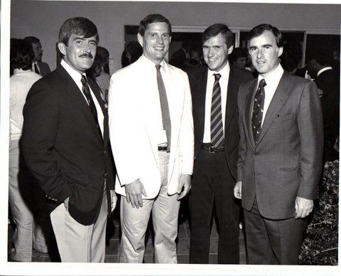 Peter Scott and David Quarles ( both who died of AIDS), David Mixner, and Governor Jerry Brown.