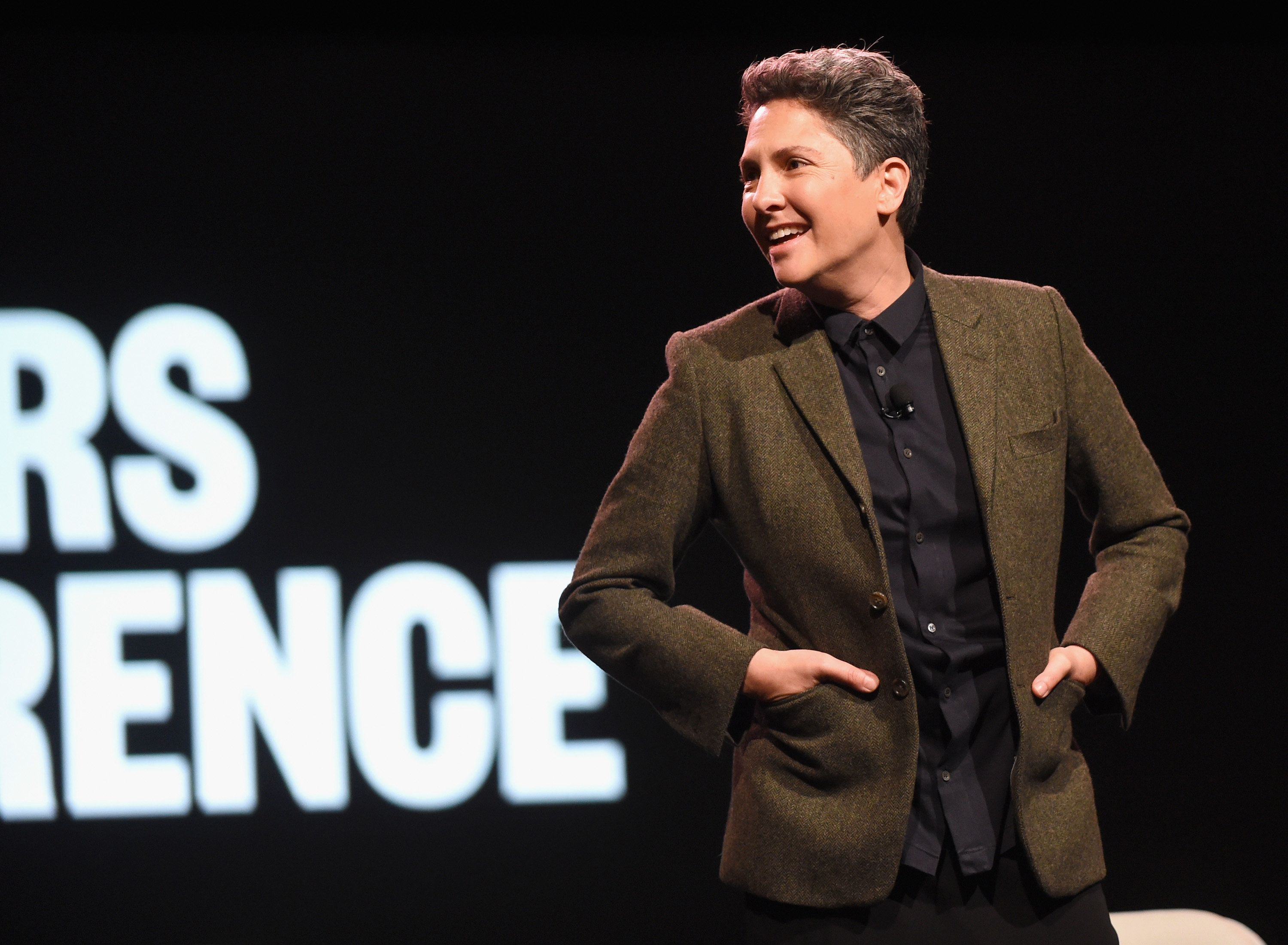RANCHO PALOS VERDES, CA - FEBRUARY 07:  Writer/producer Jill Soloway speaks onstage during The 2017 MAKERS Conference Day 2 at Terranea Resort on February 7, 2017 in Rancho Palos Verdes, California.  (Photo by Emma McIntyre/Getty Images for AOL)