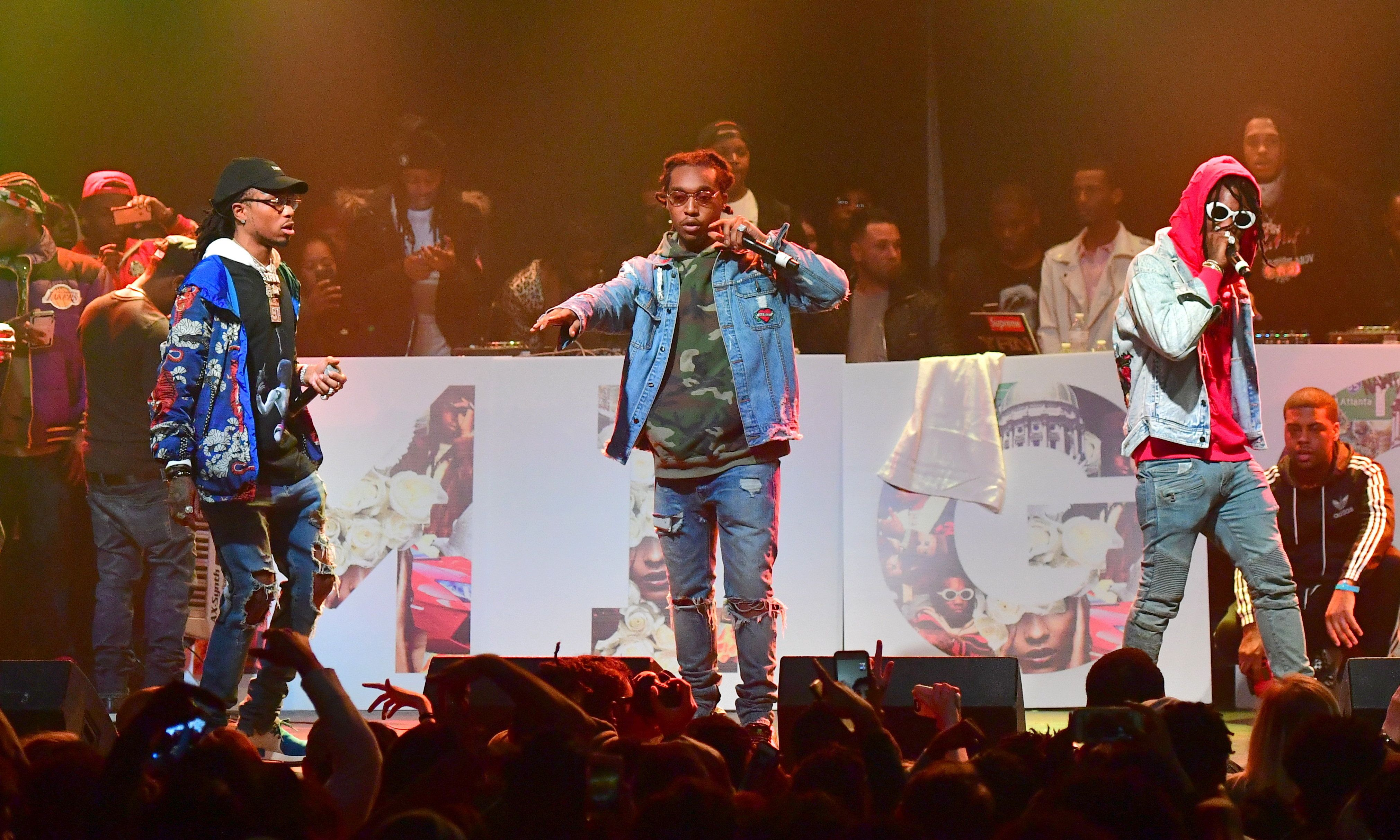 ATLANTA, GA- JANUARY 28: The Migos Perform at the Migos In Concert at Center Stage on January 28, 2017 in Atlanta, Georgia.(Photo By Prince Williams/Wireimage)