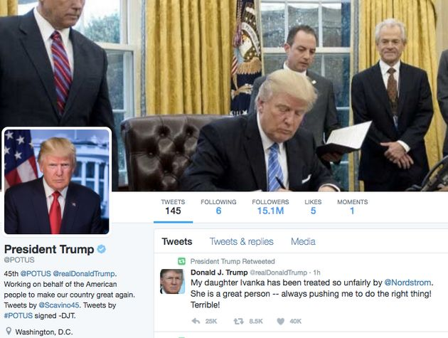 donald trump sent tweet about nordstrom minutes after start daily intelligence briefing