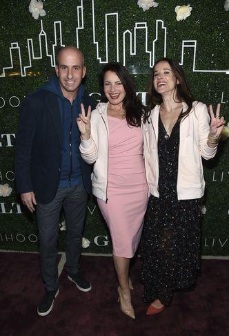 <em>Jonathan Greller, Fran Drescher &amp; Ashley Biden at the Gilt x Livelihood Launch</em>