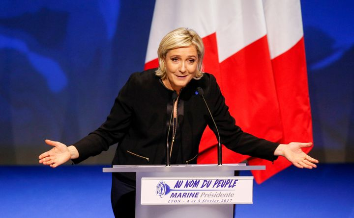 Marine Le Pen, French National Front (FN) political party leader and candidate for the French 2017 presidential election.