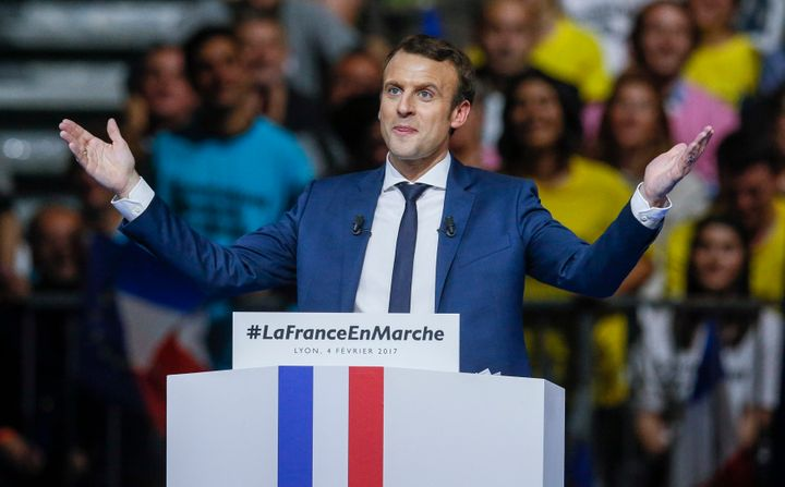 Emmanuel Macron, head of the political movement En Marche!, or Onwards!, and candidate for the 2017 presidential election.