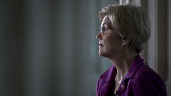 Senator Elizabeth Warren, a Democrat from Massachusetts, waits to participate in a television interview in the Russell Senate Office building rotunda in Washington, D.C., U.S., on Wednesday, Feb. 8, 2017. Warren was reading from a 1986 letter attacking Sessions by Coretta Scott King late Tuesday when Republicans invoked a little-used rule to prevent her from continuing. Warren quickly posted a Facebook video with her reading the letter outside the Senate chamber late Tuesday night that drew more than 6.5 million views by midmorning. Photographer: Andrew Harrer/Bloomberg via Getty Images