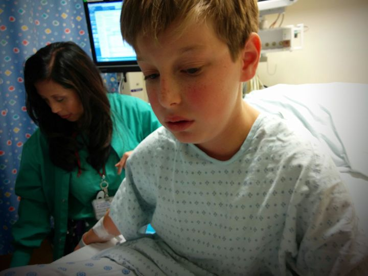 My son at Lucile Packard Children's Hospital, Stanford