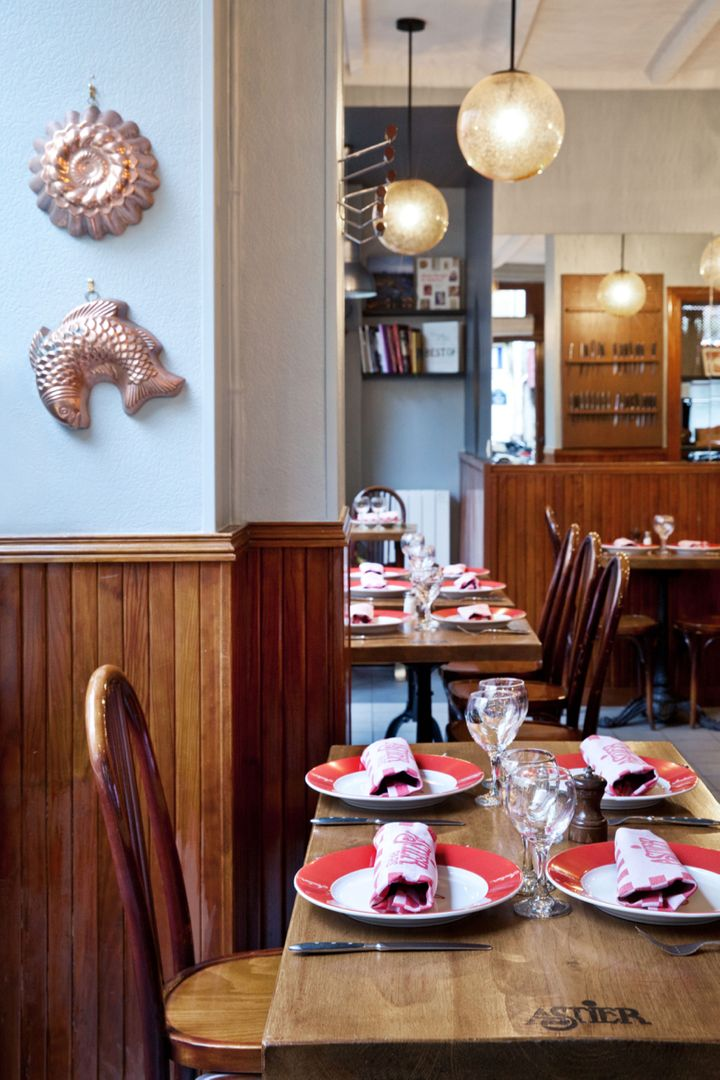 <p>The newly designed dining room at Astier</p>