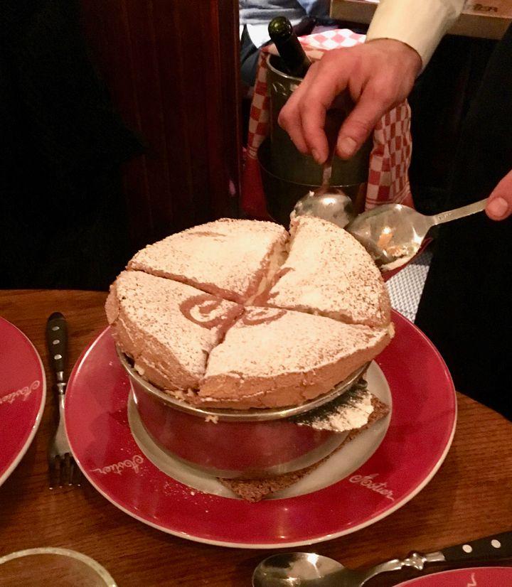 <p>Grand Marnier soufflé at Astier</p>