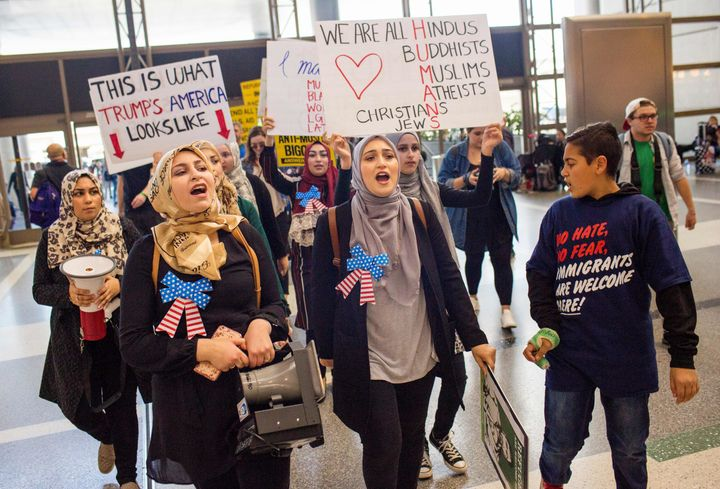 President Donald Trump's executive order targeting citizens of Muslim-majority countries was met with nationwide protests, in