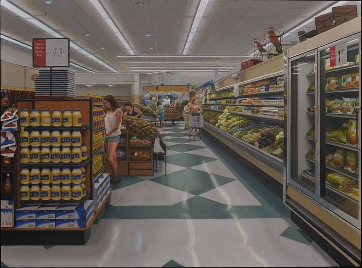"<em>1644 Cloverfield Boulevard</em>', 23"" x 31,"" oil on polyester over panel"
