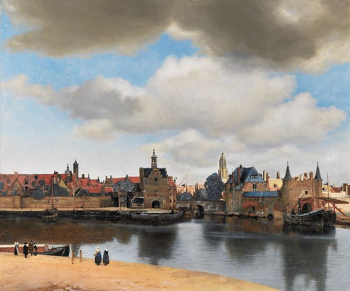 <em>View of Delft</em>, 38 x 45.6 inches, oil on canvas, 1660-61