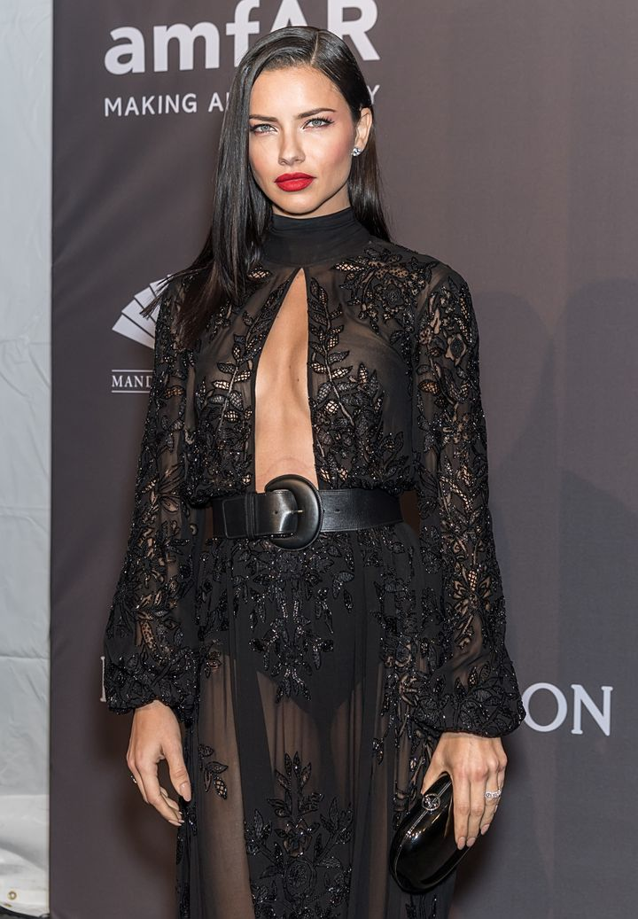 Supermodel Adriana Lima in a gorgeous sheer gown.