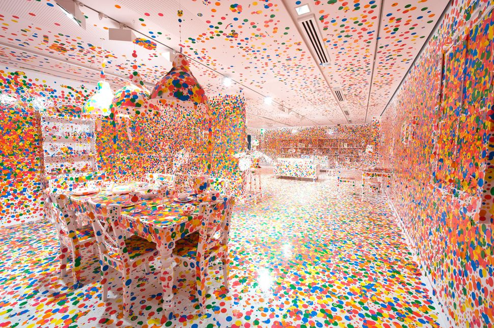 "Yayoi Kusama's ""The Obliteration Room,"" 2002."
