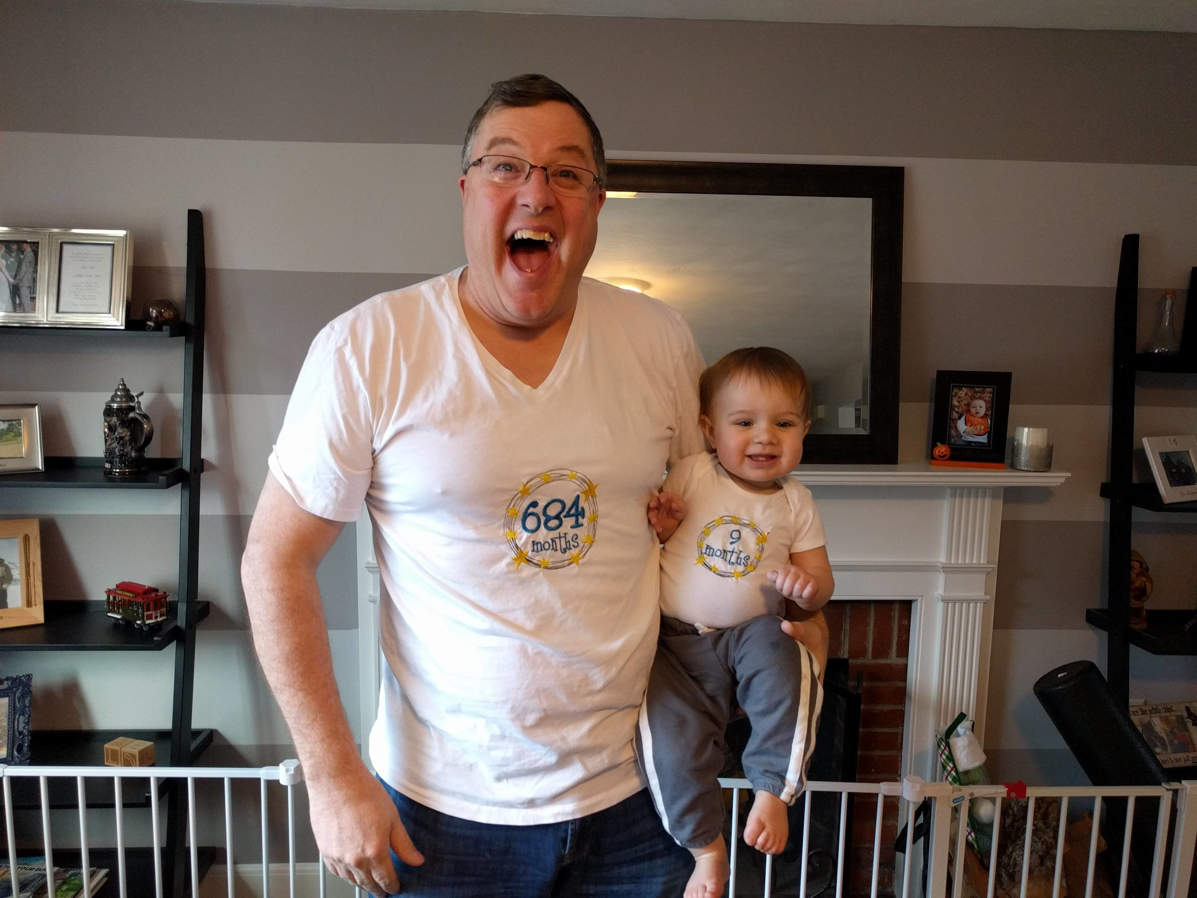 Bob Graham wanted a shirt to match his grandson's monthly growth outfits.