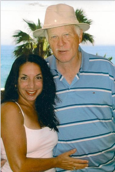 The writer and her husband on a trip to Hawaii before his illness.