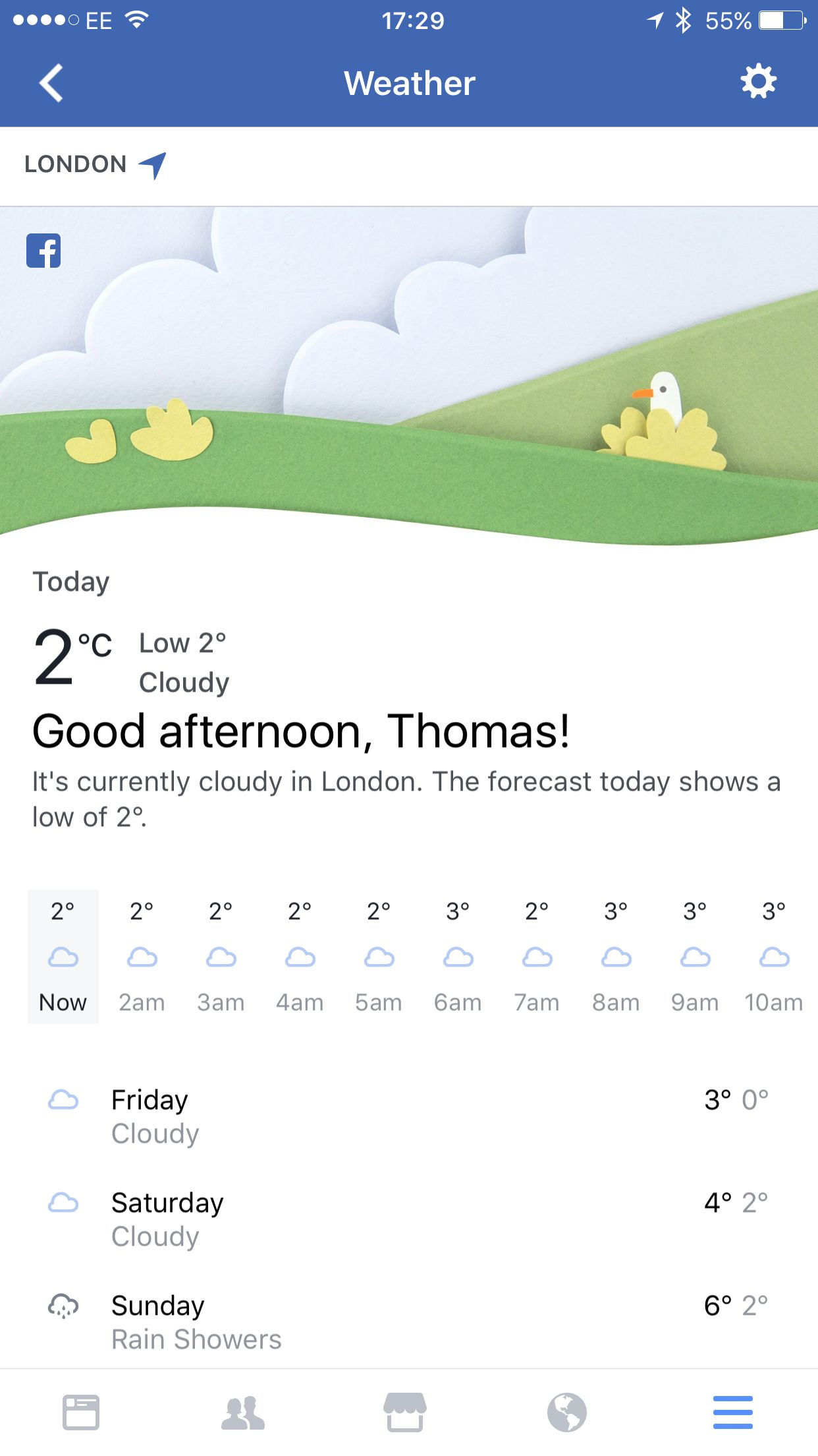 Facebook Has Just Launched Its Own In-Built Weather App