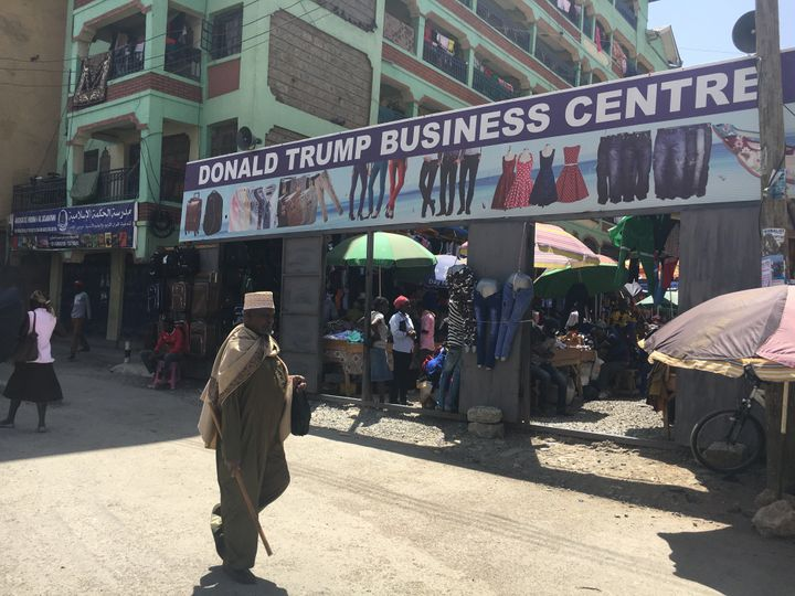 The market named after the U.S. president sits nearby to an MSI health clinic that will lose out on $3 million of funding for
