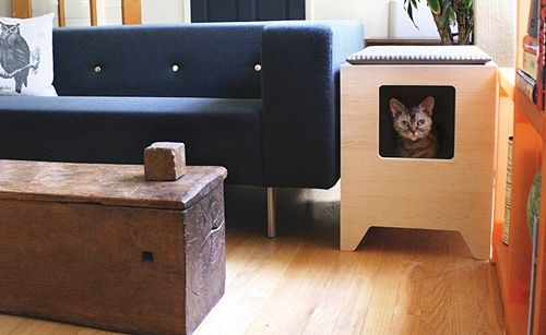 Gone are the days of ugly litter boxes! Earn your cat's affection (however fleeting), by giving them this handcrafted t