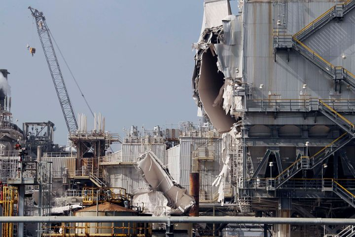 The ExxonMobil refinery in Torrance, Calif., after an explosion on Feb. 18, 2015, which nearly caused the release of highly t