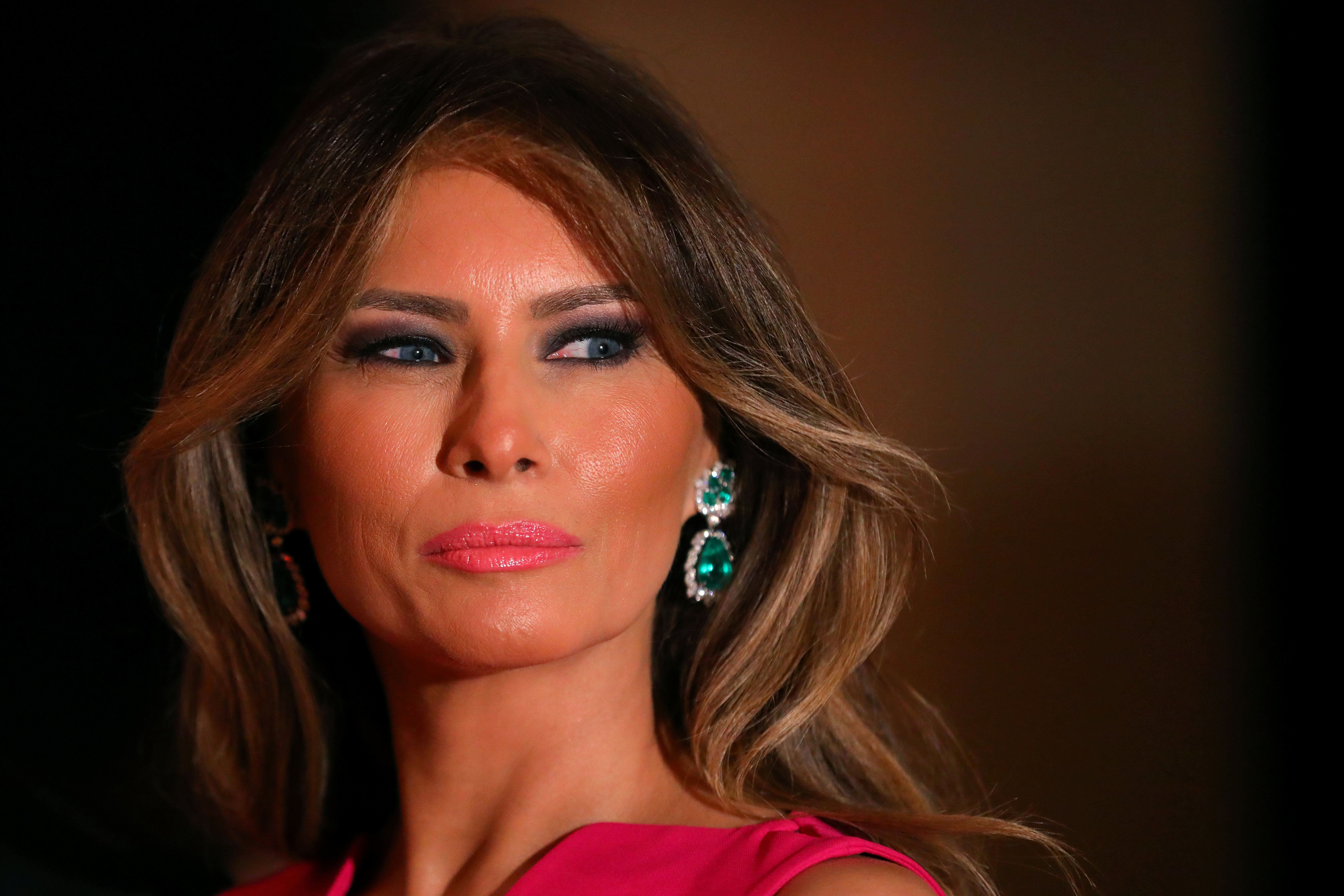 First Lady Melania Trump and U.S. President Donald Trump (not pictured) attend the 60th Annual Red Cross Gala at Mar-a-Lago club in Palm Beach, Florida, U.S., February 4, 2017. REUTERS/Carlos Barria