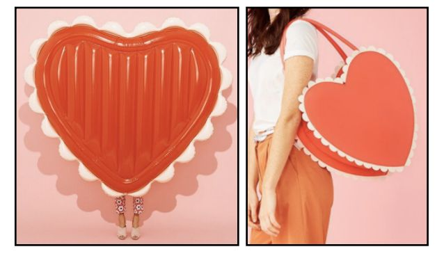 Bando His And Hers Heart Pool Float And Heart-Shaped Beach Cooler