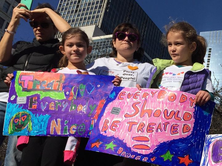 You can bet these girls will persist — photo from Chicago Women's March 1/21/17