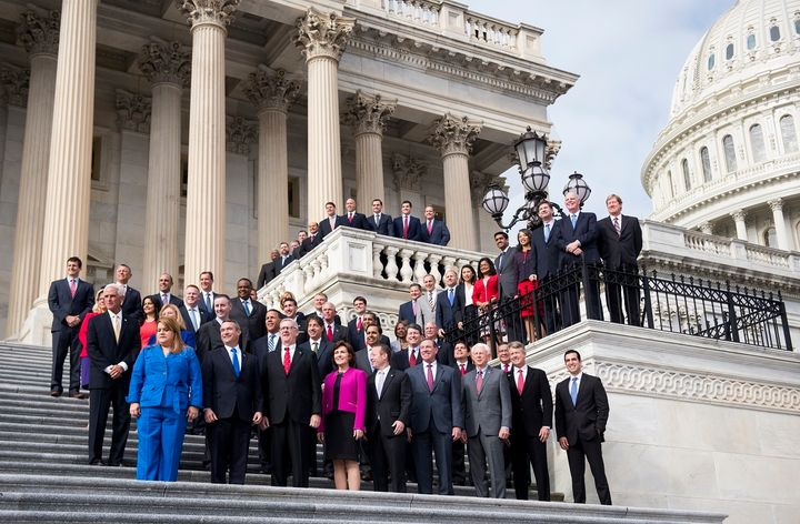 The freshman class of the 115th Congress. Freshmen tend to end their campaigns with more debt than incumbents, and PACs are