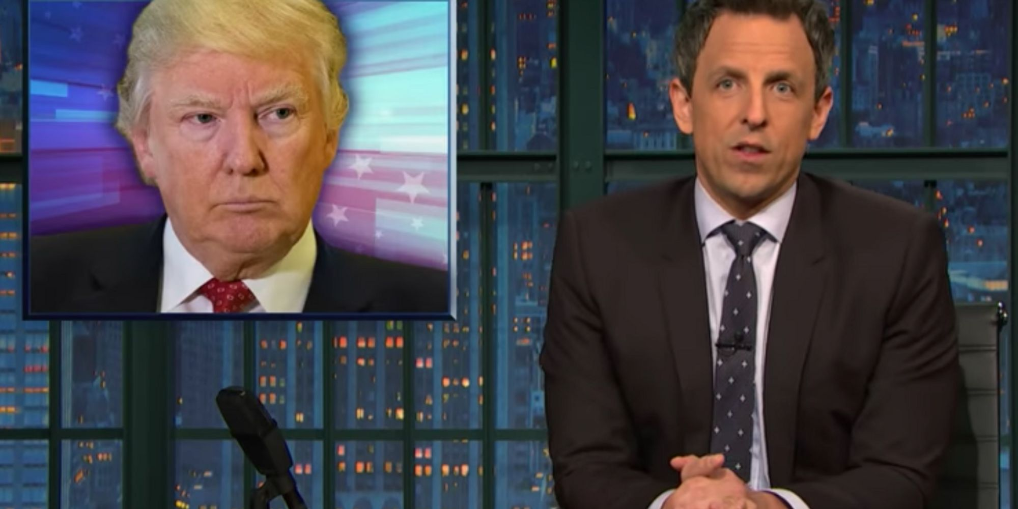 Seth Meyers Calls Out Donald Trump's Silence On The Quebec Shooting
