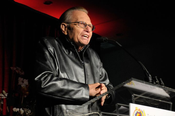 King speaks at the Heart & Soul: An Evening of High Comedy and Low Cholesterol benefit for the Larry King Cardiac Foundation on Nov. 7, 2009, in West Hollywood, California.