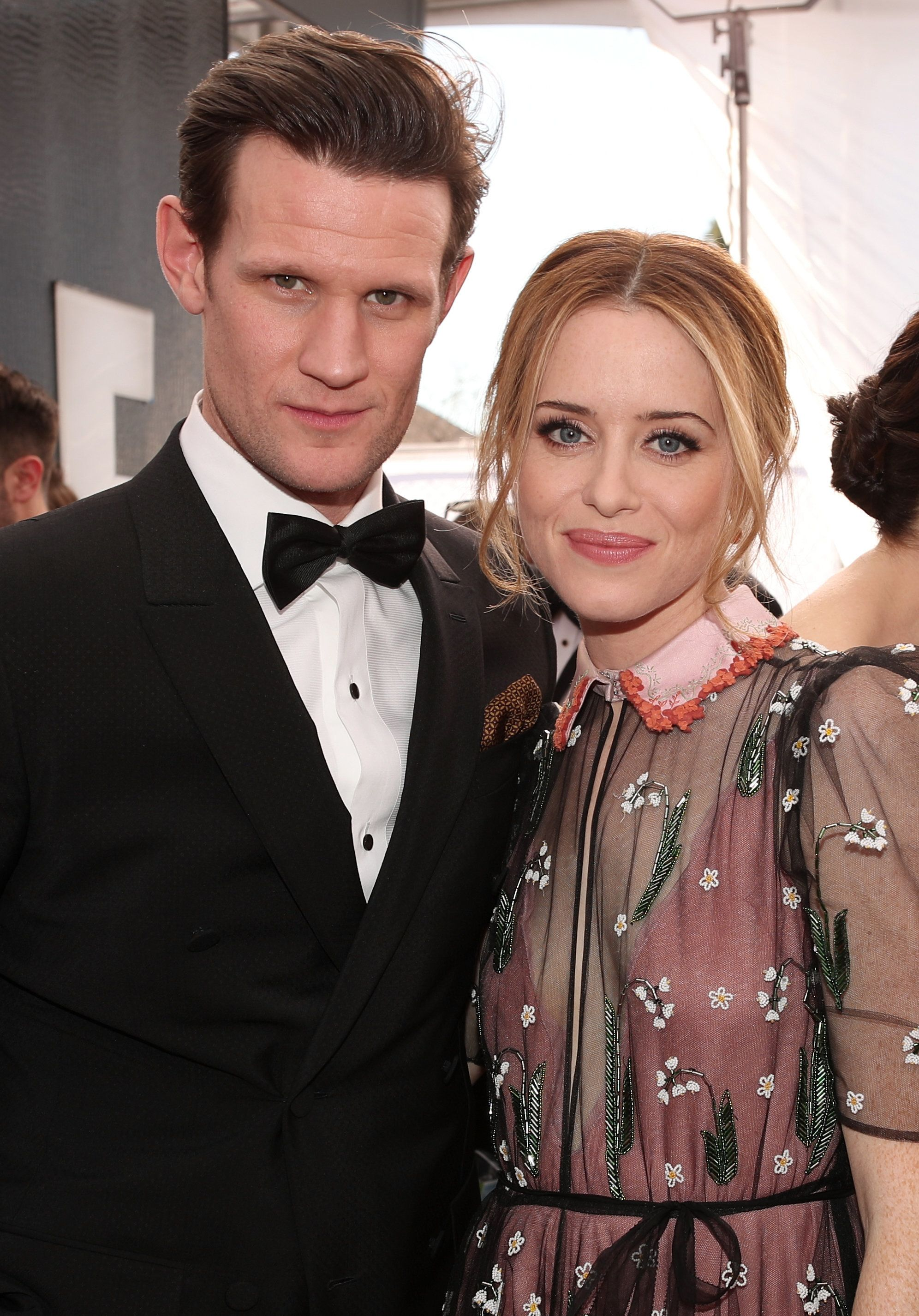 LOS ANGELES, CA - JANUARY 29: Actors Matt Smith and Claire Foy attend The 23rd Annual Screen Actors Guild Awards at The Shrine Auditorium on January 29, 2017 in Los Angeles, California. 26592_012  (Photo by Christopher Polk/Getty Images for TNT)