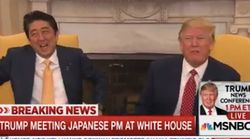 So, Trump's Handshake With The Japanese Prime Minister Got Pretty