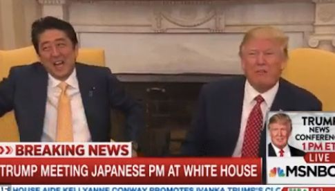 """EHHHHHHHHHHHHHH,"" Japanese Prime Minister Shinzō Abe said with his eyes."